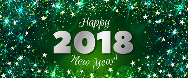 New Year 2018 banner Stock Photography