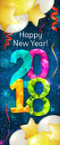New Year 2018 banner Royalty Free Stock Images