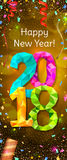 New Year 2018 banner Royalty Free Stock Photo