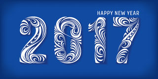 2017 new year banner. 2017 banner. Happy new year. Vector illustration, eps 10 Stock Image