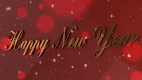 New Year banner stock footage