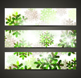 New Year banner with snowflakes Royalty Free Stock Photography