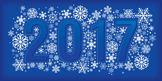 2017 new year banner with snowflakes. Vector illustration, eps 10 royalty free illustration
