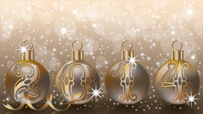 New 2014 year banner. Vector illustration stock illustration