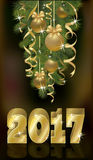 New year 2017 banner,  vector. Illustration Stock Image