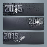 New Year 2015 banner or website header set Stock Images