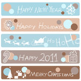 New year banners Stock Image