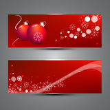 New Year banners. Vector illustration Stock Photos