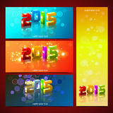 New Year Banners Royalty Free Stock Photography
