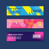 2019 new year banners. EPS 10,Modern Design, Full Vector include JPG High Resolution stock illustration