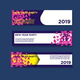 2019 new year banners. EPS 10,Modern Design, Full Vector include JPG High Resolution royalty free illustration