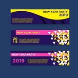 2019 new year banners. EPS 10,Modern Design, Full Vector include JPG High Resolution vector illustration