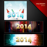 2014 new year banners. New Year 2014 Party banners in MPU and leaderboard layouts royalty free illustration