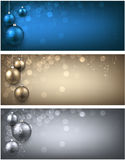 New Year banners set. New Year banners set with Christmas balls. Vector illustration stock illustration