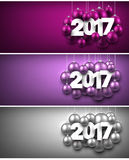 2017 New Year banners set. Stock Image