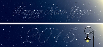 New Year banners set Stock Photography