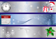New year banners. vector. Set of new year banners. vector Stock Photos