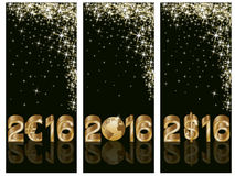 New 2016 year banners, vector. New 2016 year background, vector illustration Stock Photography