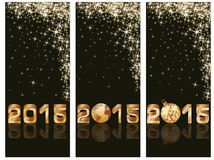 New 2015 Year banners. Vector illustration Stock Image