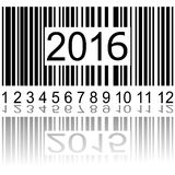 2016 new year on the barcode. Vector illustration Royalty Free Stock Photos