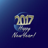 New Year 2017 Stock Photography