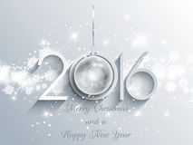 New Year bauble background. Decorative background for the Happy New Year Stock Image