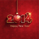 New year bauble background Stock Images
