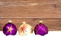 New year baubles Stock Images