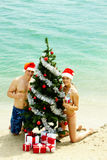 New Year on the beach Stock Photography