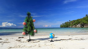 New year on  beach Stock Photo