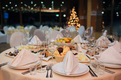 New Year beautiful catering Royalty Free Stock Photography