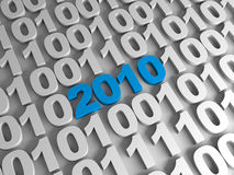 New year in binary code. New year concept. New year in binary code Stock Photos