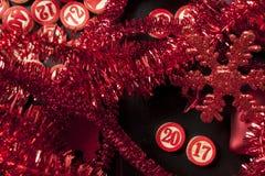 New year 2017 bingo numbers Royalty Free Stock Photo