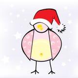 New Year bird. New Year background, Chrismas bird, snow royalty free illustration