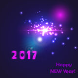 New year 2017 birth somewhere in a galaxy far Royalty Free Stock Image
