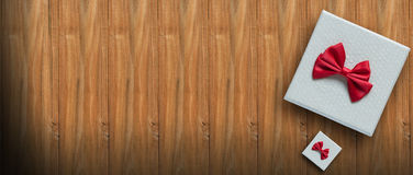 new year,birthday,valentine concept on wood background view above with copy space. Royalty Free Stock Images