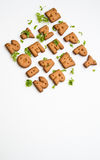 New Year Biscuits And Leaves VIII Royalty Free Stock Photography