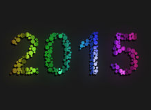 New Year 2015. On black background Royalty Free Stock Images