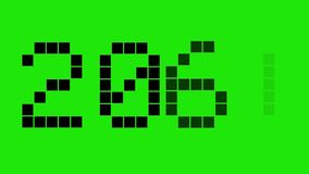 New Year 2018. 2018-Black digital numbers on the green background. Countdown to holidays