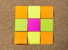 New year Blank Resolutions Post it notes with copy space Stock Image
