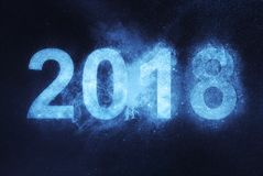 2018 new year. Blue Abstract night sky background. New year Stock Photography