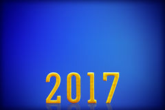 2017 New Year.  on blue background.  Royalty Free Stock Images