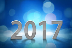 New year 2017. Blue background Royalty Free Stock Photography