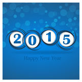 New year 2015 in blue background. Clip-art Royalty Free Stock Photography