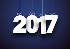 2017 New Year blue background. 2017 New Year sign on blue background. Vector illustration Royalty Free Stock Photos
