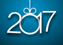 2017 New Year blue background. 2017 New Year sign on blue background. Vector illustration Stock Image