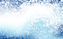 New year 2015 in blue background. Vector. Clip-art stock illustration