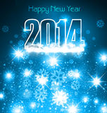 New 2014 year blue colorful greeting card Royalty Free Stock Photography