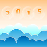 New year 2015 blue sky background. Stock vector Stock Photo