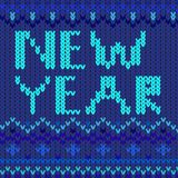 New year blue. Vector graphic illustration design art Royalty Free Stock Images